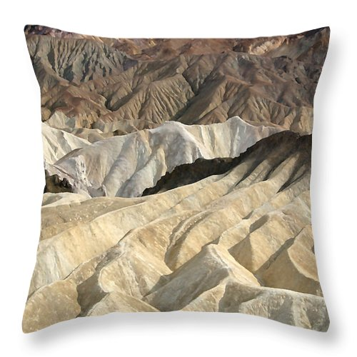 Desert Throw Pillow featuring the photograph Desert Waves by Mary Haber