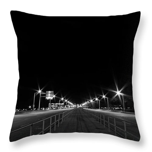 Deserted Throw Pillow featuring the photograph Deserted Bridge Crossing by Tim Wilson