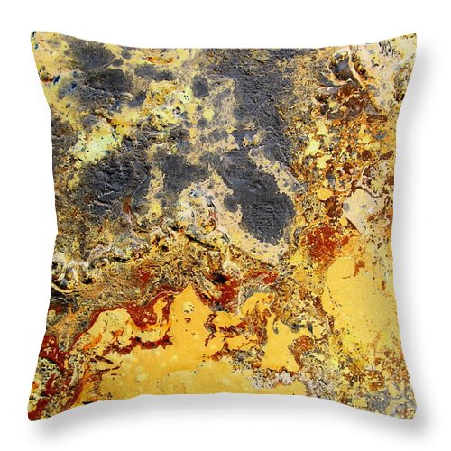 Desert Throw Pillow featuring the painting Deserts Of Hope by Dawn Hough Sebaugh