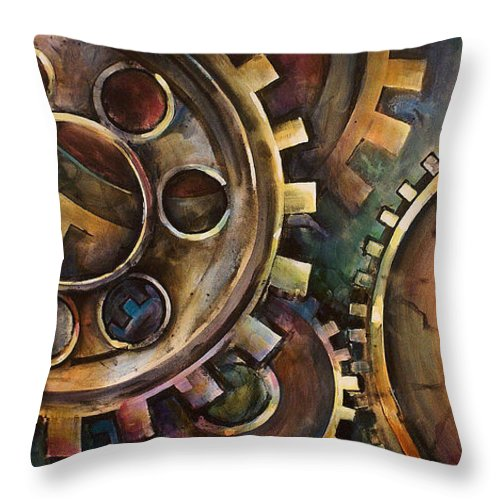 Throw Pillow featuring the painting Design One by Michael Lang