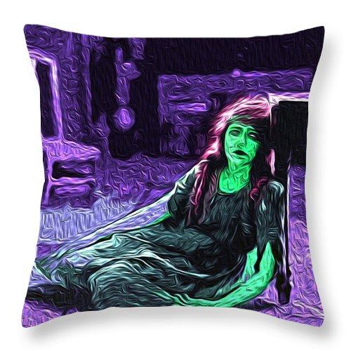 Despair Throw Pillow featuring the digital art Despair by The untalented-talented Artist