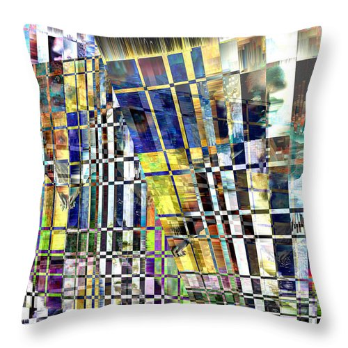 Abstract Throw Pillow featuring the digital art Desperate Reflections by Seth Weaver