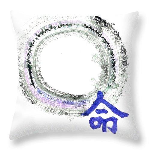 Tao Throw Pillow featuring the painting Destiny by Ellen Miffitt