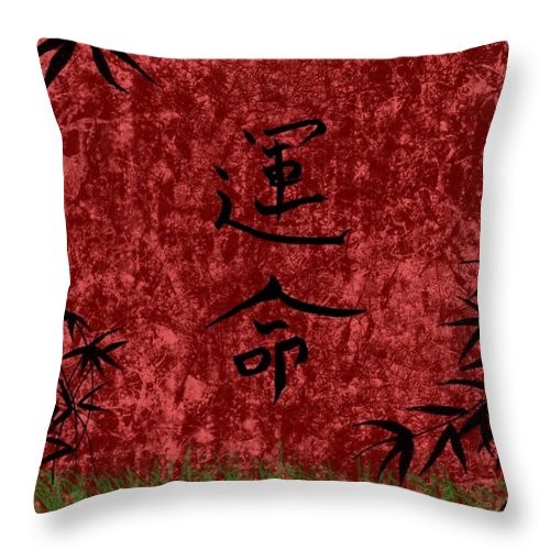 Destiny Throw Pillow featuring the digital art Destiny by Rhonda Barrett