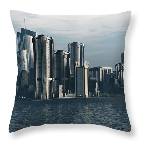 Futurism Throw Pillow featuring the digital art Destiny by Richard Rizzo