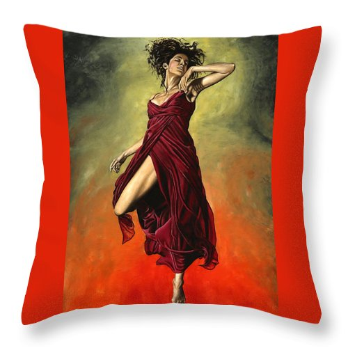 Dance Throw Pillow featuring the painting Destiny's Dance by Richard Young