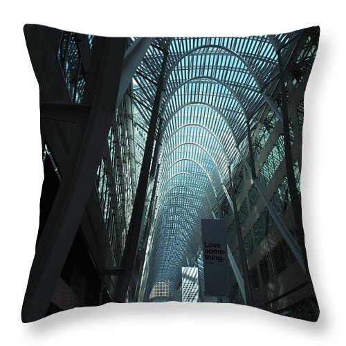 Skylight Throw Pillow featuring the photograph Detail by Ian MacDonald