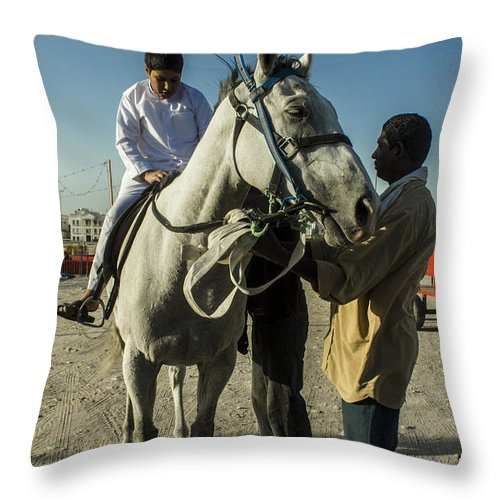 Sell Throw Pillow featuring the photograph Details On How by Khaled Alkhaldi