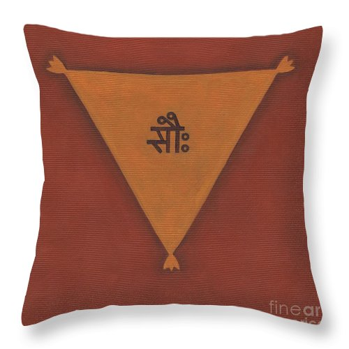 Devi Throw Pillow featuring the painting Devi Yantra by Piitaa - Sacred Art