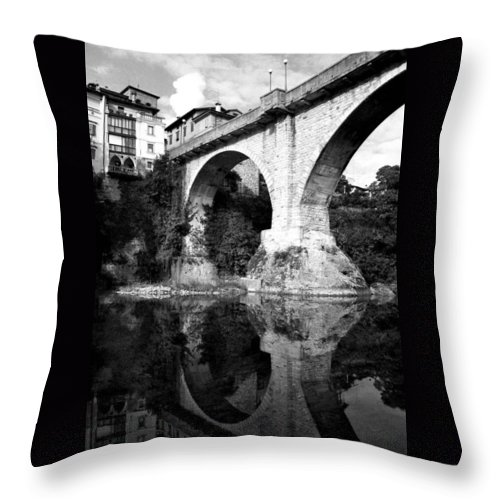 Italy Throw Pillow featuring the photograph Devil's Bridge by Donna Corless