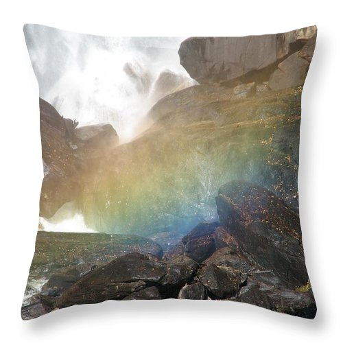 Devil's Fork Throw Pillow featuring the photograph Devil's Rainbow by Kelly Mezzapelle