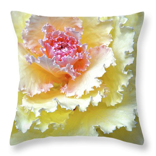 Beautiful Southern Flower Throw Pillow featuring the digital art Dew. Rain. Tears. by Andy Za