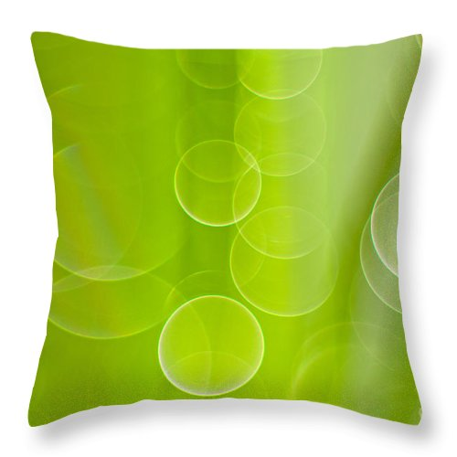 Water Throw Pillow featuring the photograph Dewdrops by Silke Magino