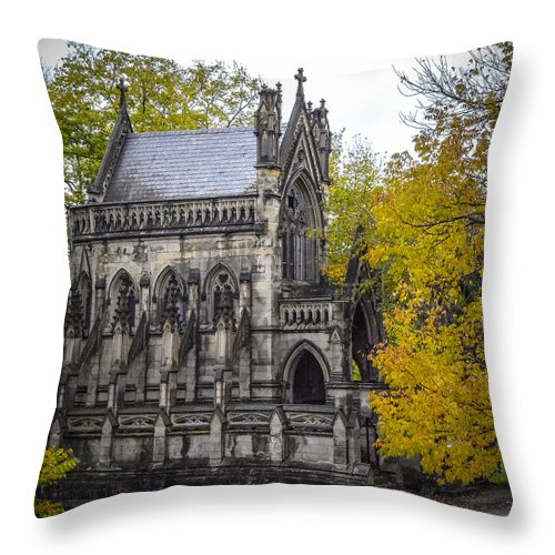 Tree Throw Pillow featuring the photograph Dexter Memorial by Michael Cummiskey