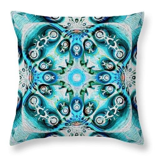 Throw Pillow featuring the digital art Dia De Muertos by Jim Pavelle