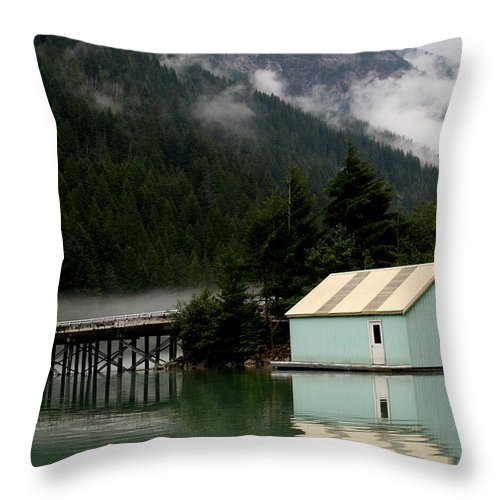Washington Landscape Throw Pillow featuring the photograph Diablo Lake by David Salter