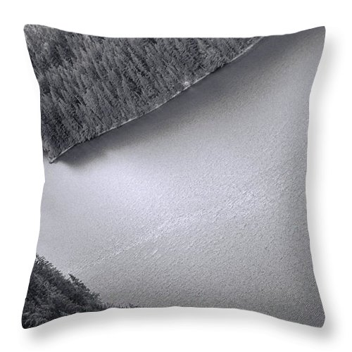 Black And White Throw Pillow featuring the photograph Diablo Lake Washington Black And White by Dan Sproul