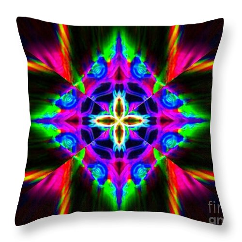 Lorles Lifestyles Throw Pillow featuring the digital art Diamond Dews by Lorles Lifestyles