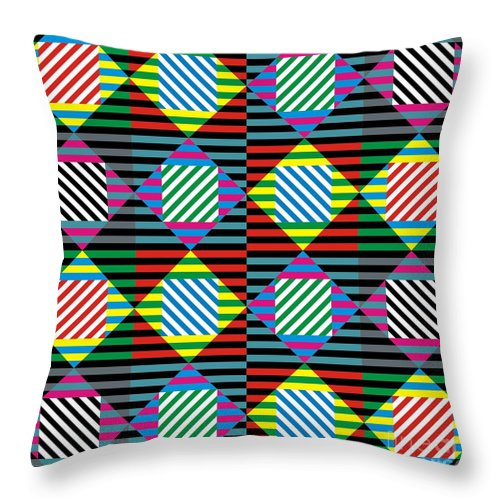 Patterns Throw Pillow featuring the digital art Diamond Quilt 1 by Walter Oliver Neal