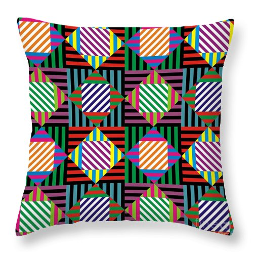 Patterns Throw Pillow featuring the digital art Diamond Quilt 2 by Walter Oliver Neal
