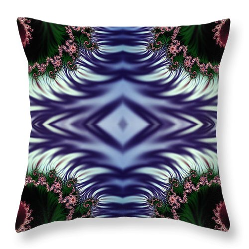 Clay Throw Pillow featuring the digital art Diamonds Are Forever by Clayton Bruster