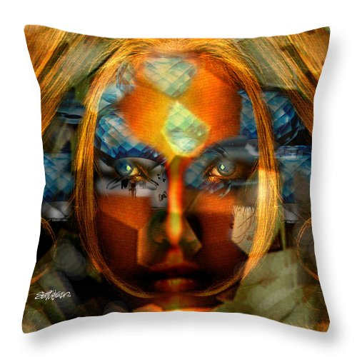 Lady Throw Pillow featuring the photograph Diamonella by Seth Weaver