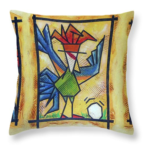 Did I Do That Throw Pillow featuring the painting Did I Do That by Bobby Jones