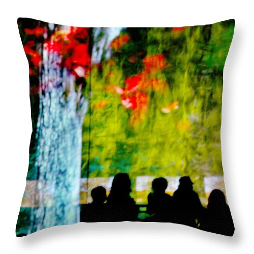 Sillhouettes Throw Pillow featuring the photograph Die Zuschauer - The Spectators by Linda McRae