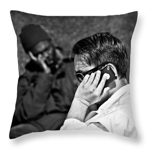 People Throw Pillow featuring the photograph Different Lives by Dave Bowman