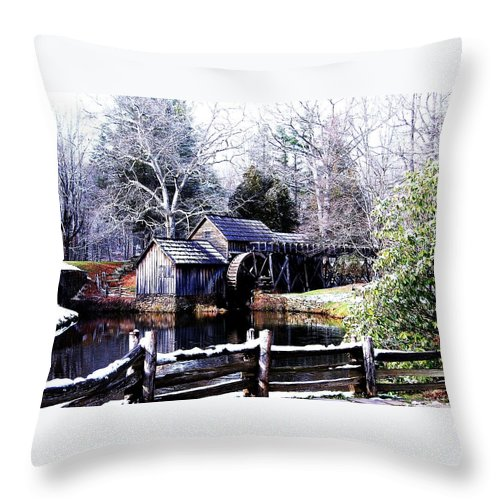 Mill Throw Pillow featuring the photograph Digital Mill by Eric Liller
