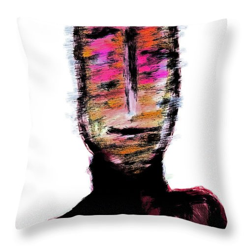 Apple Pencil Drawing Throw Pillow featuring the photograph Digital Painting 082 by Bill Owen