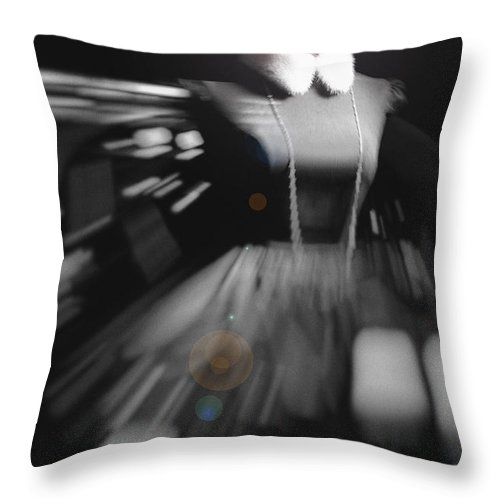 Woman Throw Pillow featuring the photograph Digital Visualization Of A Female Mystic by Svetlana Batalina