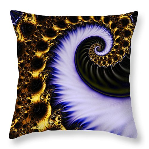 Clay Throw Pillow featuring the digital art Digital Wave by Clayton Bruster