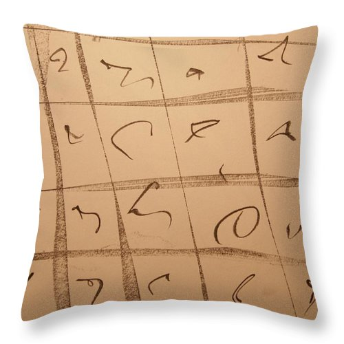 Abstract Throw Pillow featuring the drawing Dimension Domain by David Barnicoat