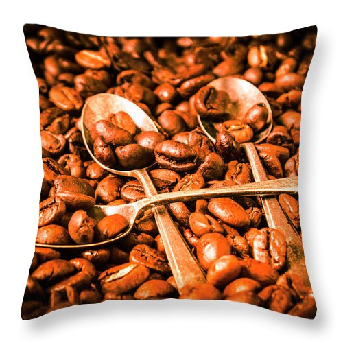 Food Throw Pillow featuring the photograph Diner Beans by Jorgo Photography - Wall Art Gallery