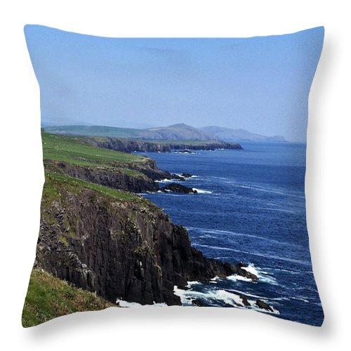 Irish Throw Pillow featuring the photograph Dingle Coast Near Fahan Ireland by Teresa Mucha
