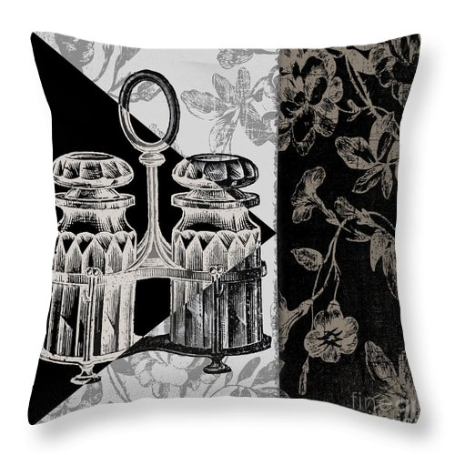 Salt And Pepper Shakers Throw Pillow featuring the painting Dinner Conversation Iv by Mindy Sommers