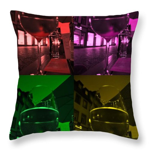Dinner Throw Pillow featuring the photograph Dinning Out - Effect 1 by Noah Cole