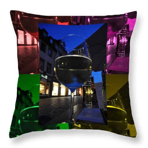 Dinner Throw Pillow featuring the photograph Dinning Out - Effect 2 by Noah Cole
