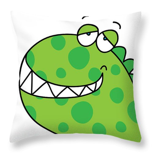 Children Throw Pillow featuring the painting Dino by Maciej Mackiewicz