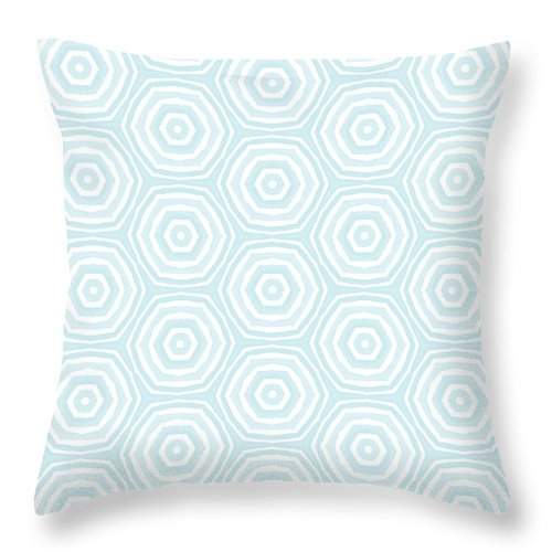 Circles Throw Pillow featuring the digital art Dip In The Pool - Pattern Art by Linda Woods by Linda Woods