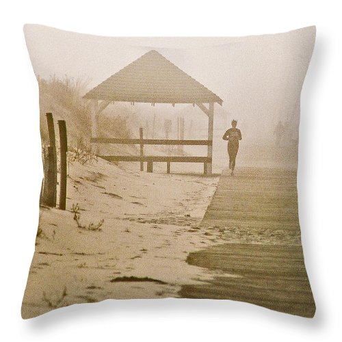 Landscape Throw Pillow featuring the photograph Disappearance by Steve Karol