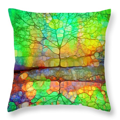 Tree Throw Pillow featuring the photograph Disappearing In Colour by Tara Turner