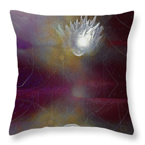 Disconnected Art Throw Pillow featuring the digital art Disconnected by Linda Sannuti