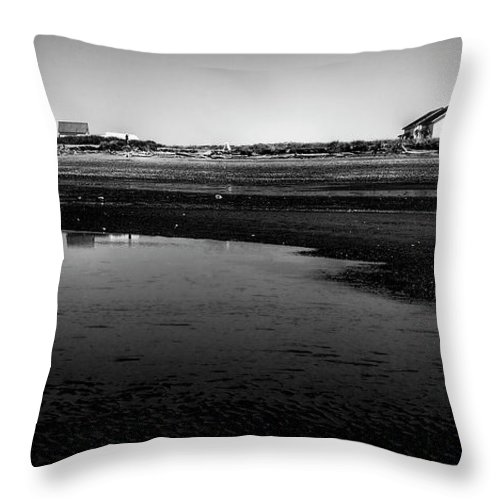Discovery Park Throw Pillow featuring the photograph Discovery Park Beach by David Patterson