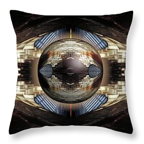 Abstract Throw Pillow featuring the photograph Discovery by Rachel Dunn
