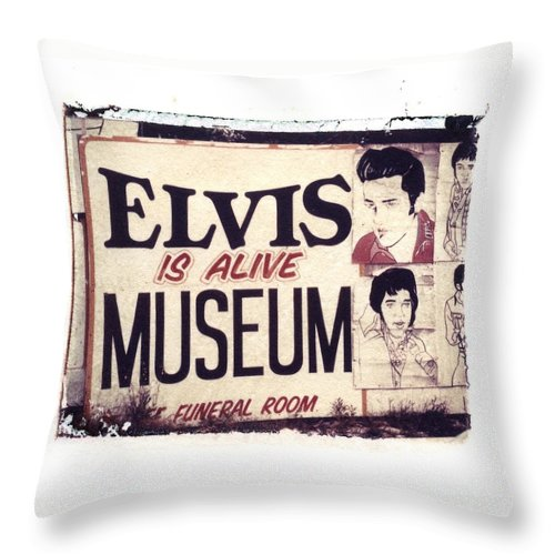 Polaroid Transfer Throw Pillow featuring the photograph Disgraceland No. 2 by Jane Linders