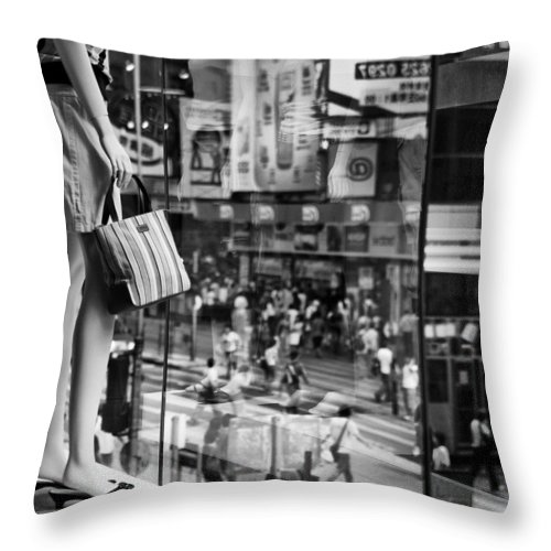 Mannequin Throw Pillow featuring the photograph Display by Dave Bowman