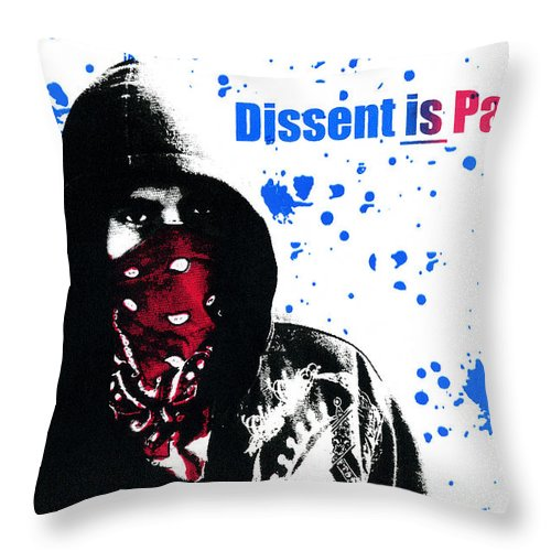 Screen Print Throw Pillow featuring the photograph Dissent Is Patriotic by Jeffery Ball