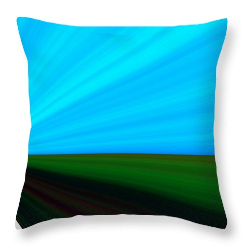Highway Throw Pillow featuring the digital art Distand Light II by Donna Proctor